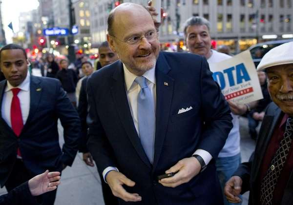 NYC Mayoral candidate Republican Joe Lhota arrives for