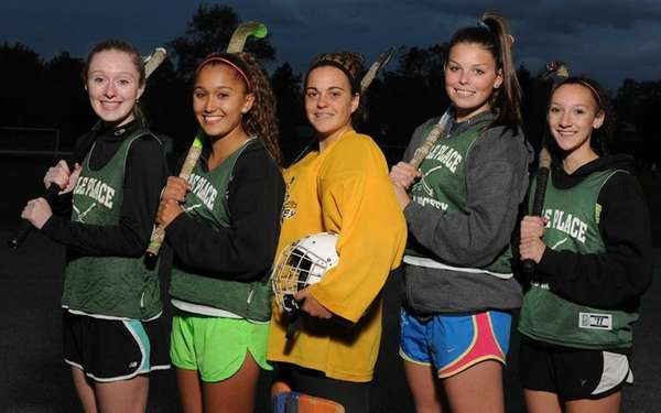 From left, Carle Place varsity field hockey teammates