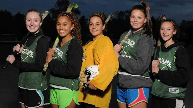 From left, Carle Place varsity field hockey teammates
