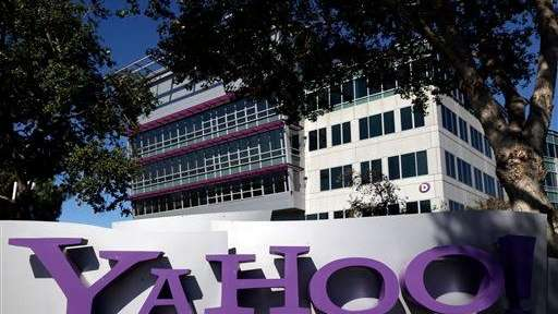 The Yahoo! logo is seen in front of