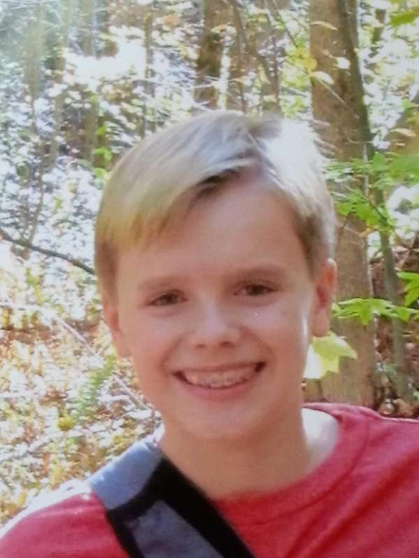 Gregory Kies, 11, who attends Plainview-Old Bethpage Middle