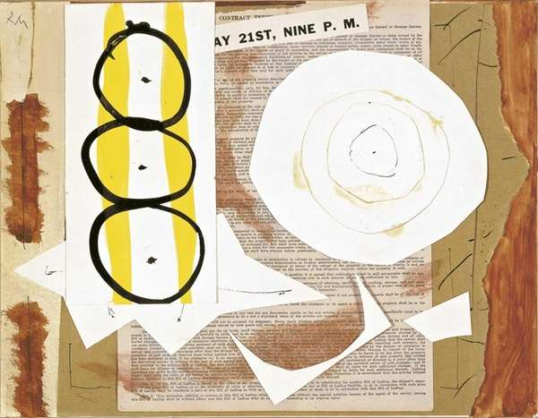 """9th Street Exhibition,"" a 1951 collage by artist"