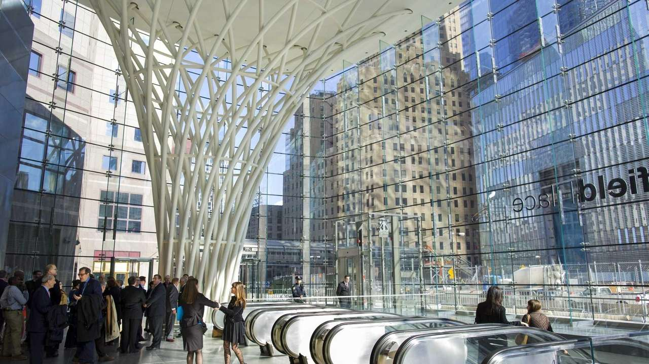 for first time since 9 11 transit hub corridor opens under 1