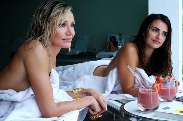 Cameron Diaz, left, as Malkina, and Penelope Cruz,