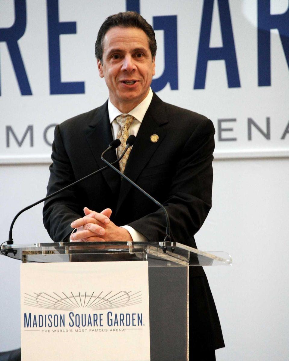 Gov. Andrew M. Cuomo shown at Madison Square