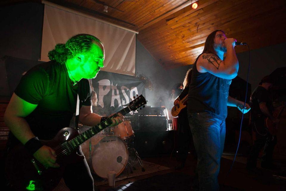 Guitarist Paul Rosado and singer James Tamarazzo of