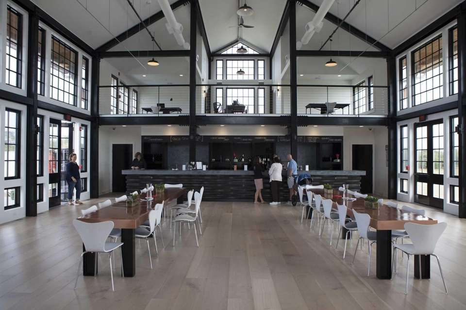 Kontokosta Winery's airy and light-filled tasting room has