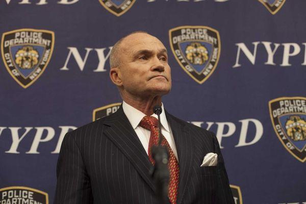 NYPD head Ray Kelly speaks to the media