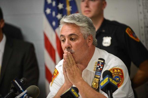 Chief of Suffolk Police James C. Burke seen