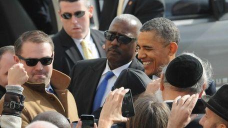 President Barack Obama, arrives at JFK airport Friday