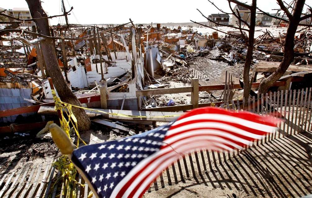 A U.S. flag is shown at a site