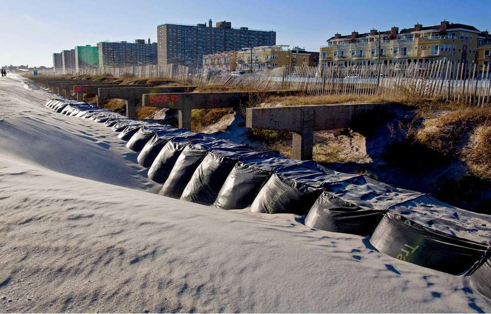 What is left of the boardwalk in the
