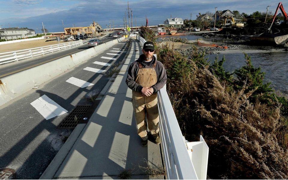 Brian Hajeski, of Brick, N.J., on a bridge
