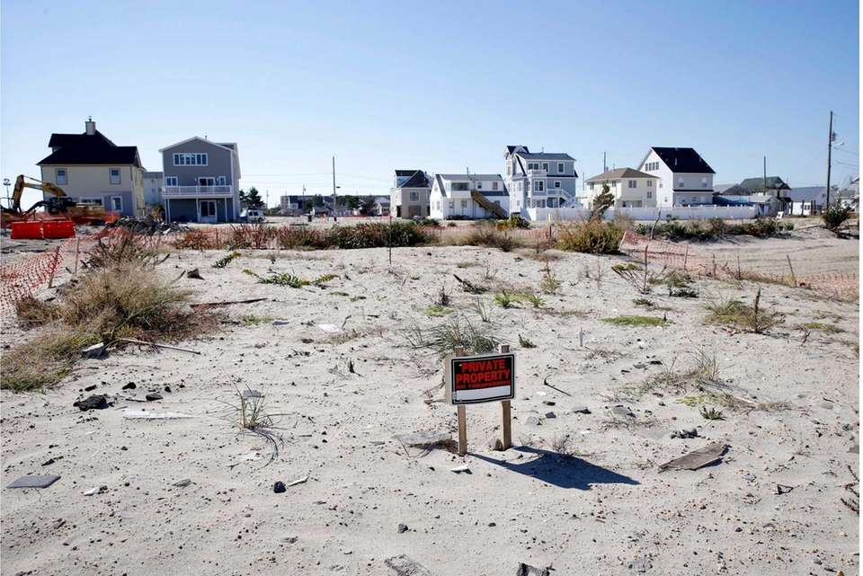 An empty lot is shown in Ortley Beach