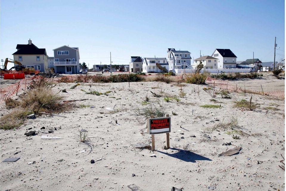 An empty lot is shown in Ortley Beach