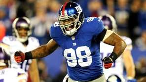 Defensive end Damontre Moore of the New York