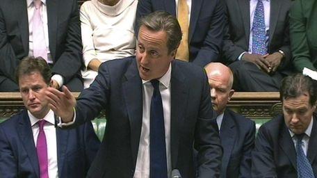 British Prime Minister David Cameron of the Conservative