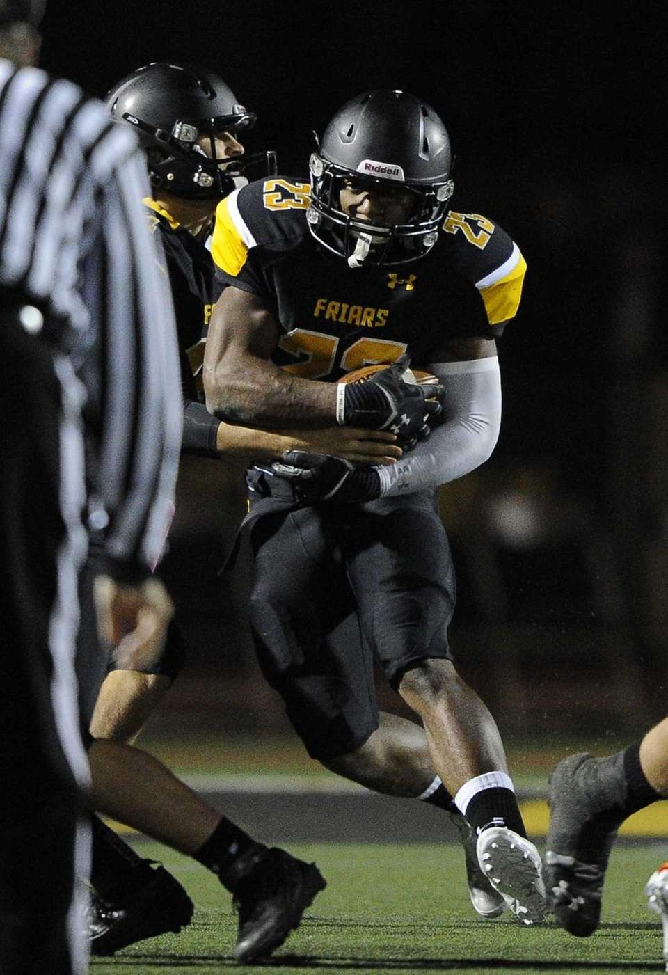 St. Anthony's running back Jordan Gowins carries the