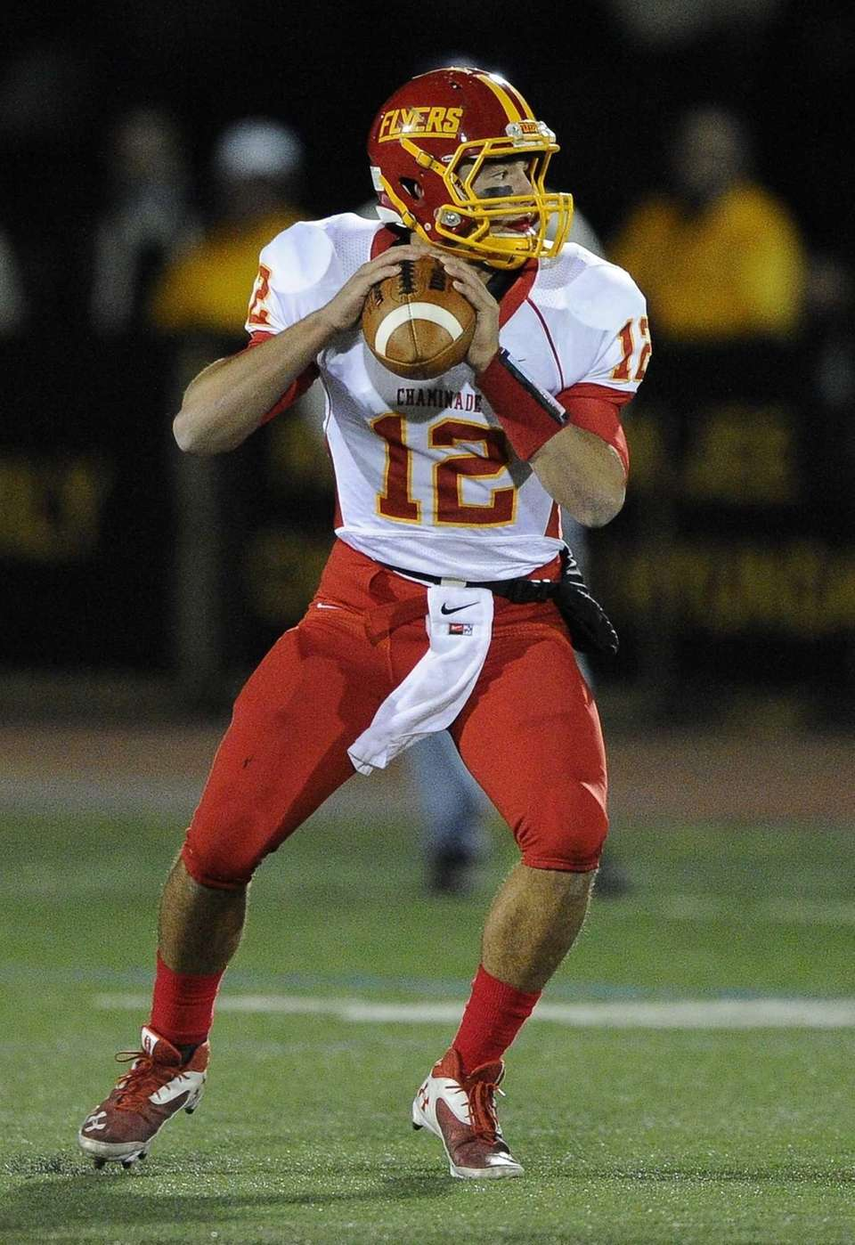 Chaminade quarterback Sean Cerrone looks to pass against
