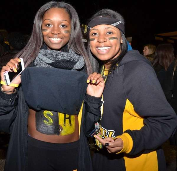 Kelsey Jean-Jacques, left, and friend Meagan Joseph, 17,