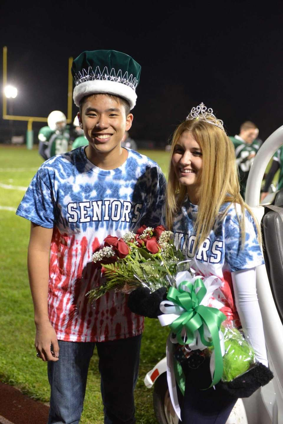 Seniors Timothy Leung and Anjelica Pisacone were crowned