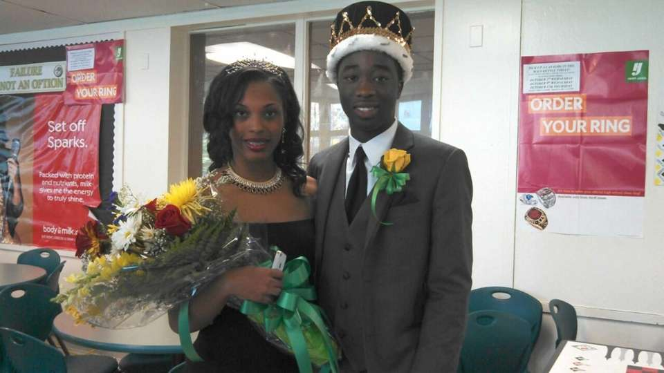Westbury High School homecoming queen Soraya Chevalier, 17,