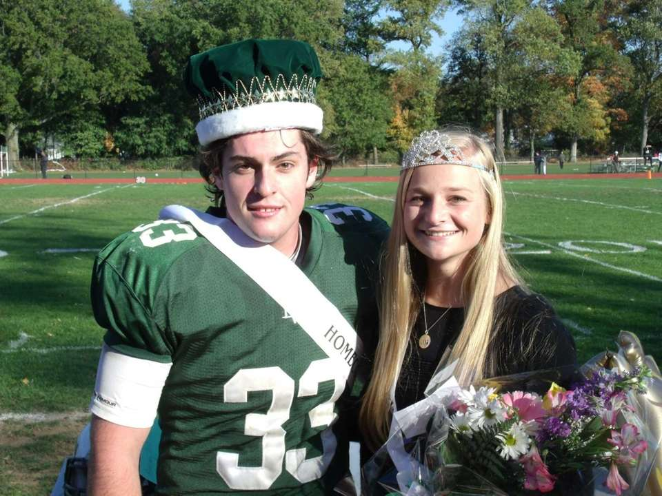Locust Valley High School homecoming king and queen