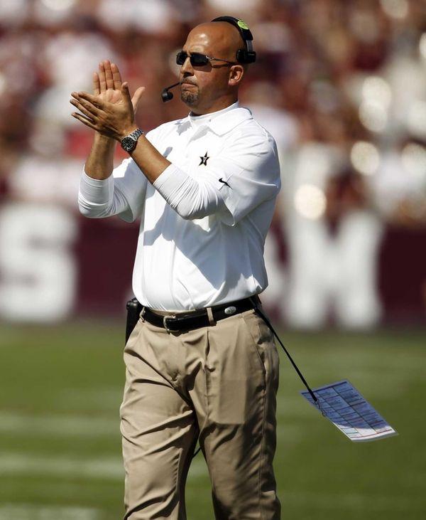 Vanderbilt head coach James Franklin walks the sidelines