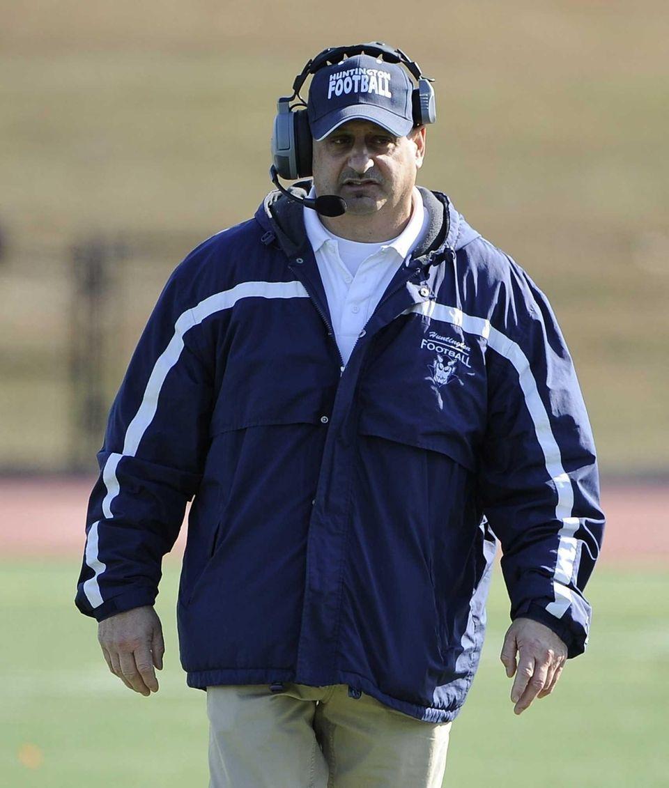 Huntington head coach Steve Muller looks on against