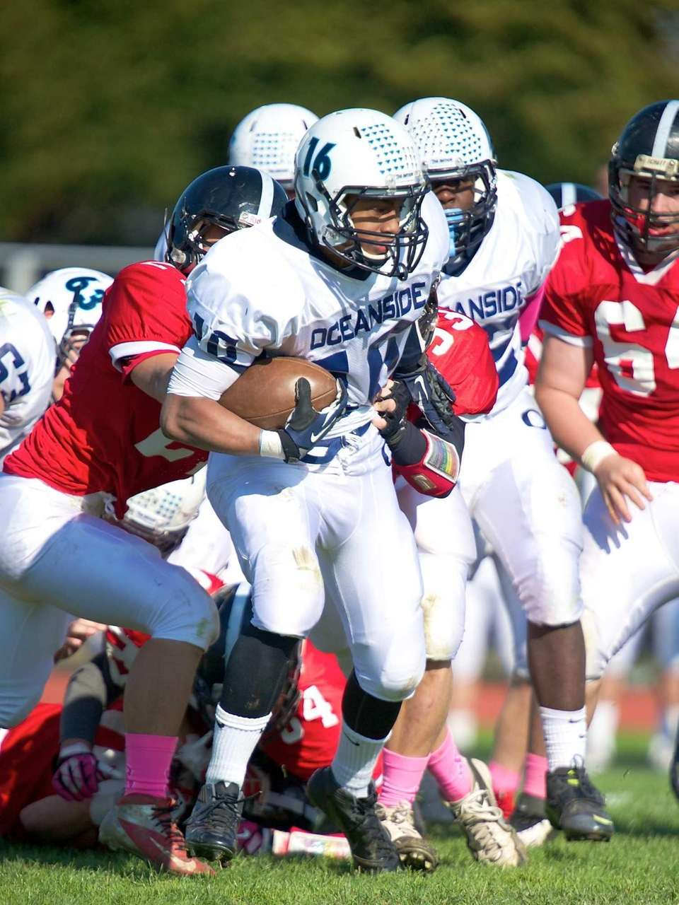 Oceanside running back Brandi Diaz fights for extra
