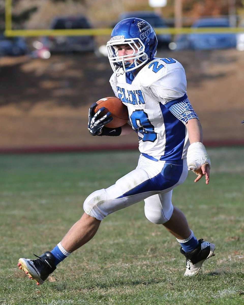 John Glenn running back T.J. Tiernan rushes with