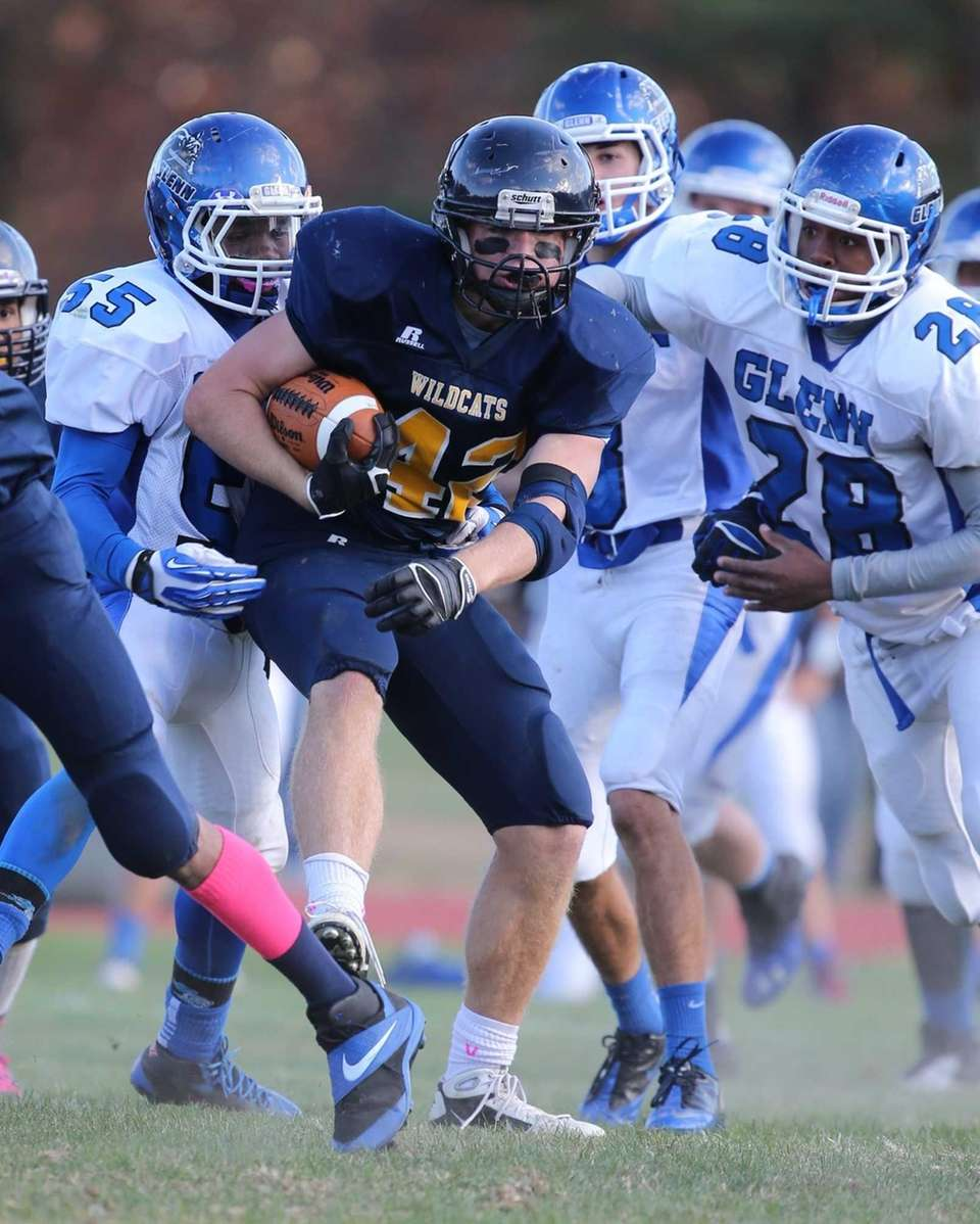 Shoreham-Wading River running back Tyler Anderson (no. 42)
