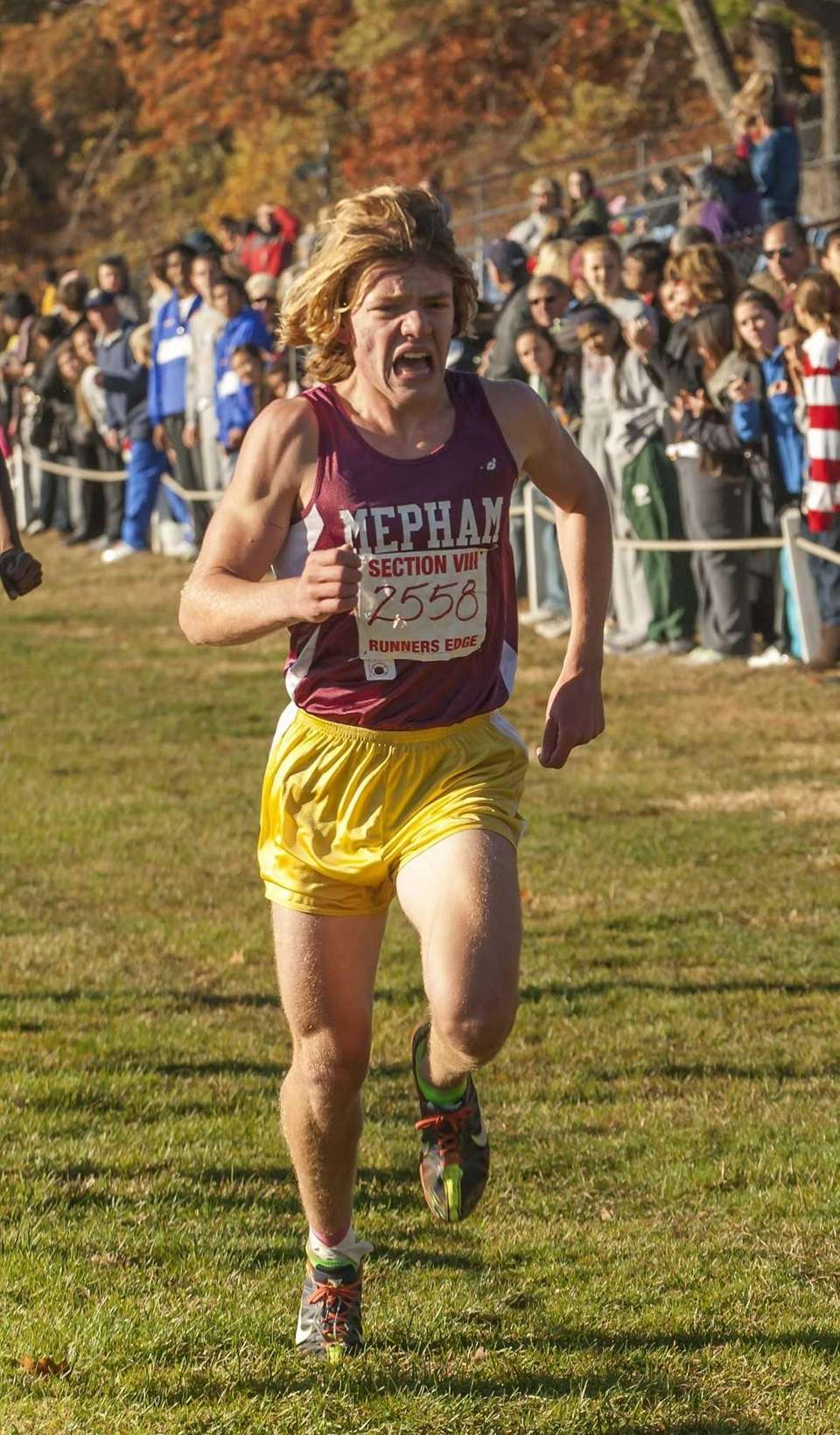 Mepham's Charlie Skidmore finishes in third place with