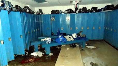 Long Beach High School after superstorm Sandy.