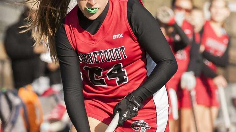 Connetquot's Erin Massmann is seen during the Suffolk