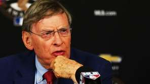 Major League Baseball Commissioner Allan 'Bud' Selig attends