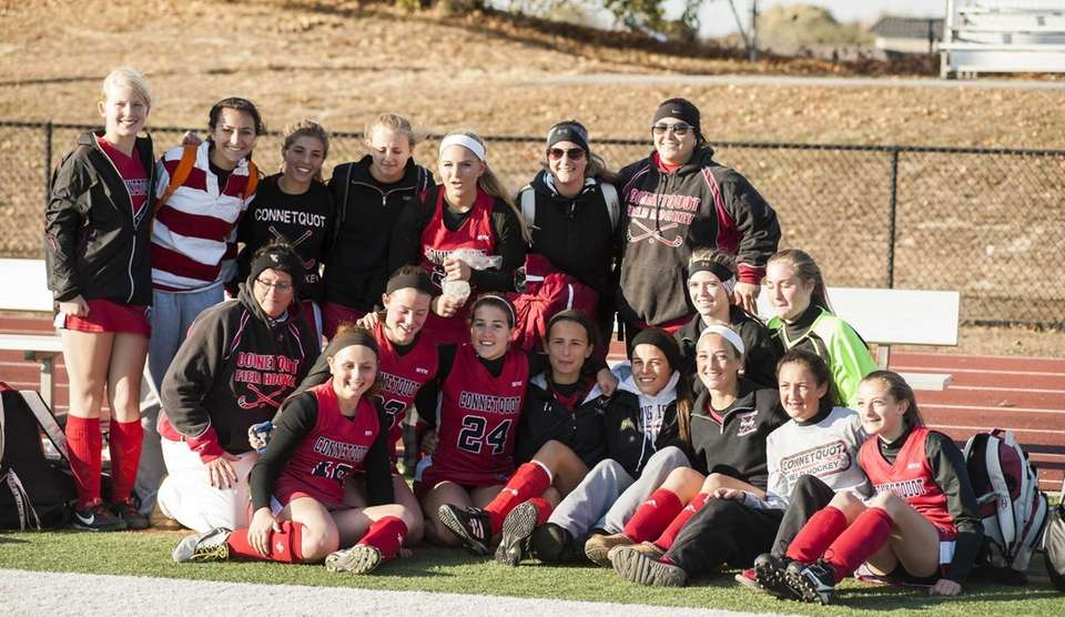 Connetquot's girls field hockey team poses for a