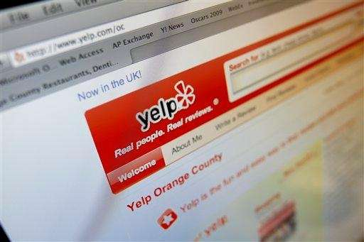 Online review sites, such as Yelp, can give