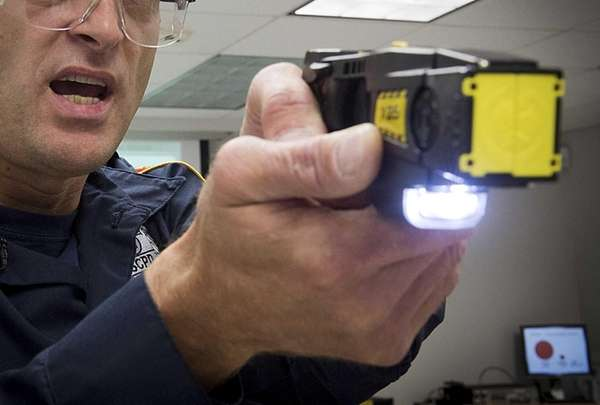 Taser gun training expert Ken Augsbach of the