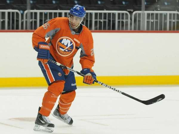 Islanders left wing Matt Moulson skates during the