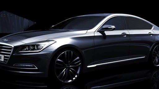 A rendering of Hyundai's 2015 Genesis sedan features