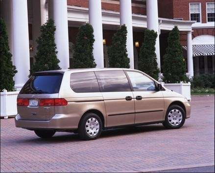 The sliding doors on minivans, including the 2000