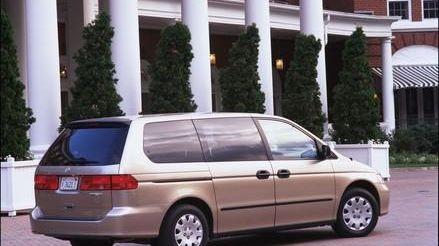 The sliding doors on minivans, including the 2000