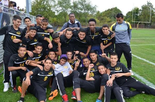 The Central Islip boys soccer team.