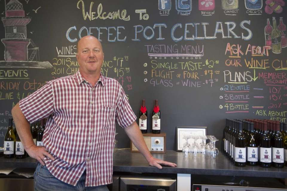 Adam Suprenant, Coffee Pot Cellars co-owner with his