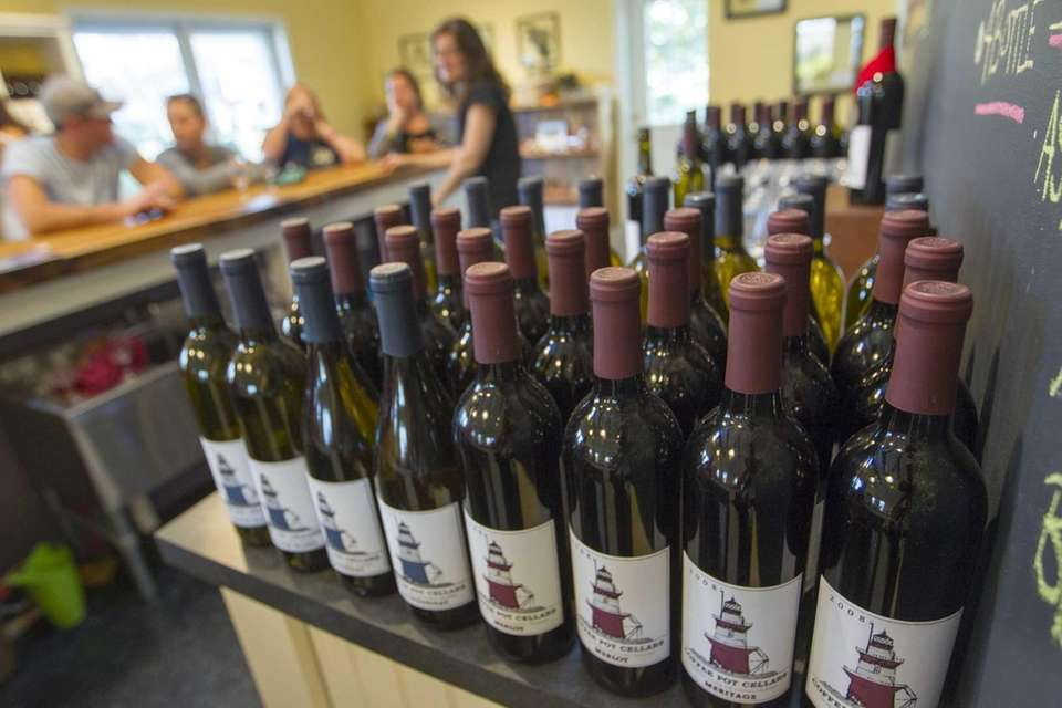 Wines that are ready to be tasted at