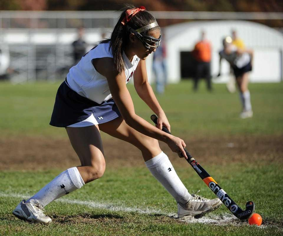 Miller Place's Alyssa Parrella strikes the ball on