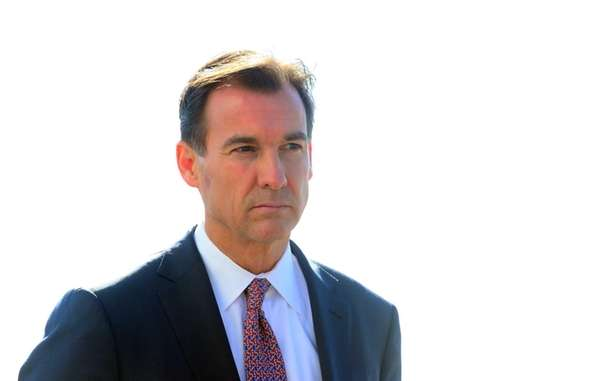 Nassau County Executive candidate Tom Suozzi during a