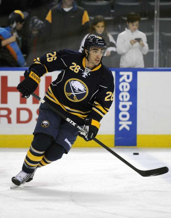 Newly acquired Buffalo Sabres left winger Matt Moulson