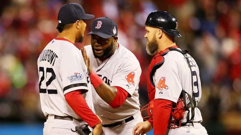 The Boston Red Sox's David Ortiz #34 and